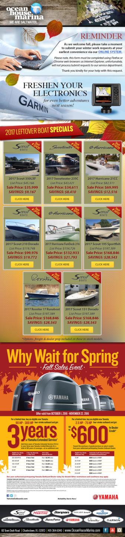 Ocean House Marina Fall 2017 newsletter