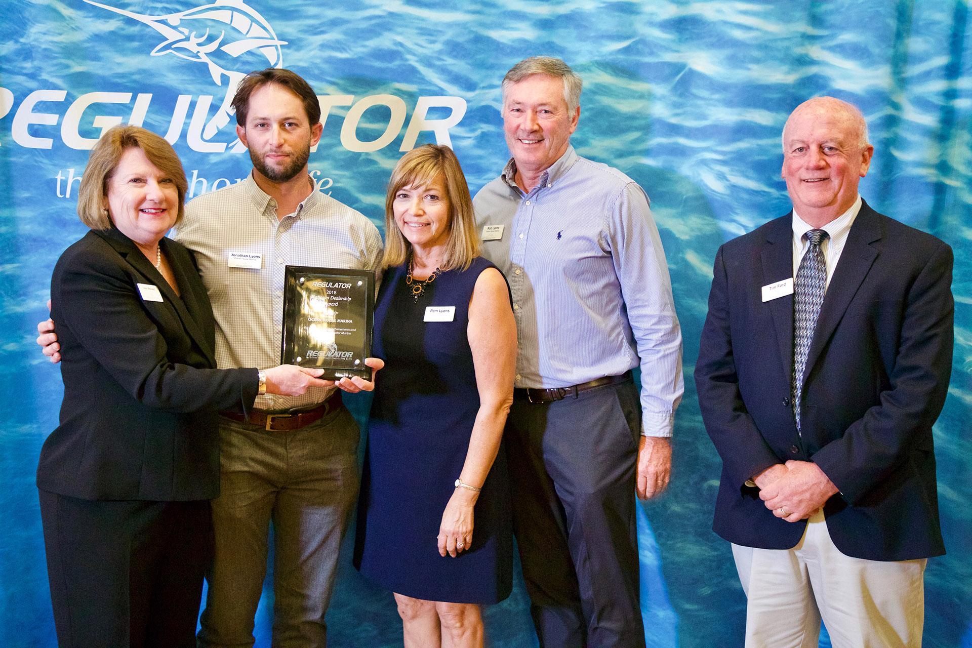 We were awarded as Platinum Regulator Dealer by Regulator Boats.