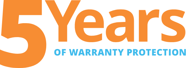 5 Years of Warranty protection