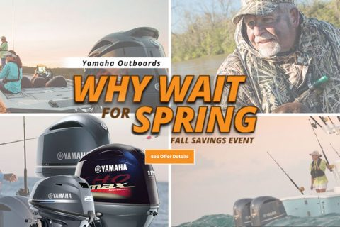 Yamaha Outboards – Why Wait for Spring Fall Savings Event